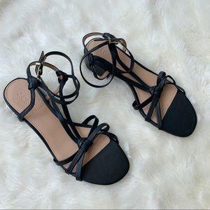 J. Crew • black strappy lady sandals